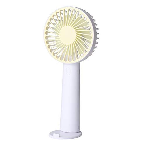 ABOOFAN Ventilador de mano práctico ventilador de escritorio pequeño ventilador de verano Ventilador de mesa portátil USB para dormitorio en casa oficina (amarillo)