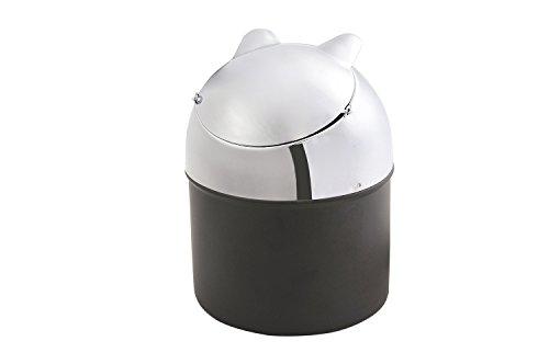 The Khan Outdoor & Lifestyle Company Quantum Abacus Runder Windaschenbecher aus Zinklegierung, Deckel gleichzeitig Zigarettenablage, Mod. 816B-01 (DE)