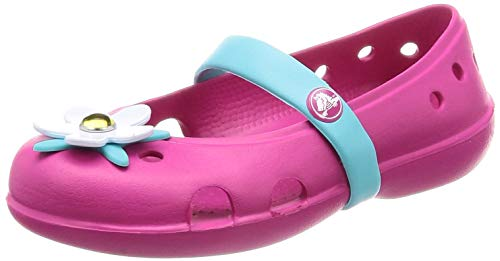 Crocs Kids' Girls Keeley Charm Flat Mary Jane