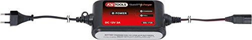 KS Tools 550.1730 - Cargador con microprocesador para baterías AGM, de celdas de gel y de celdas húmedas, 12 V, 2 A