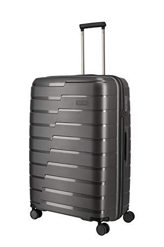 travelite 4-Rad Koffer L mit TSA Schloss, Gepäck Serie AIR BASE: Funktionaler Hartschalen Trolley im coolen Look, 075349-04, 77 cm, 105 Liter, anthrazit (grau)