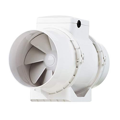 Vents TT-100 TT - Extractor en línea con flujo mixto, 100mm,color blanco