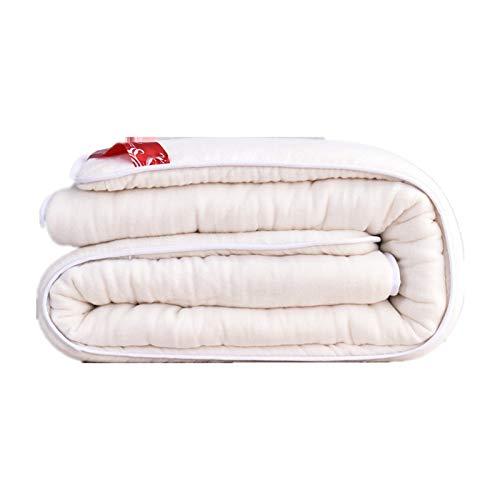 BSLBBZY Hecho a Mano Colcha de algodón 100% for Cama Individual Doble Consolador Suave cómodo Relleno Blanco Relleno de Primavera otoño Invierno (Size : 150x200cm 1000g)