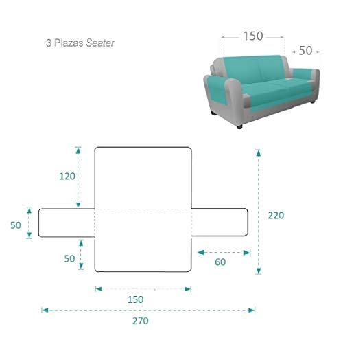 textil-home Salvadivano Trapuntato Copridivano Adele 3 posti Reversibile. Colore Beige