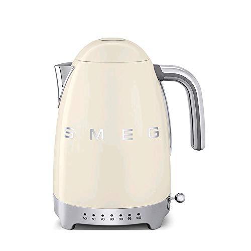 SMEG Calentador de Agua electrico, hervidor KLF04CREU, 2400 W, 1.7 litros, plástico, Crema
