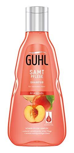 Guhl Samt Pflege Shampoo - Mit Pfirsich-Öl - Für Normales Haar - Für Ein Samtig Gesundes Haargefühl, 250 Ml