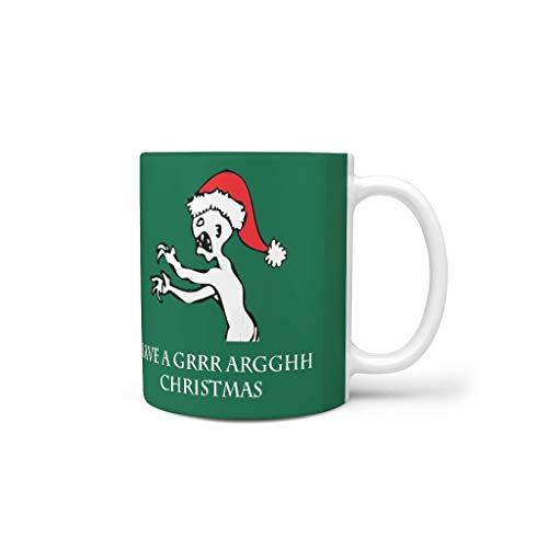 CUCIN Heeft u een grrargghh Kerstmis brouwen thee mok mok met handvat glad keramiek humor beker - Kerstmis grappige zendtijd meisjes cadeau, voor woonhuis gebruiken (11 oz)
