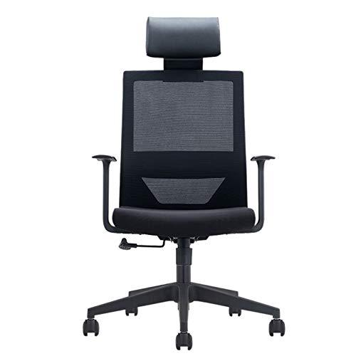 BIAOYU Ergonomisk kontorsstol midjestöd konferensstol stillasittande nätstol ryggstöd bekväm med justerbart armstöd (färg: A, storlek: Stålfötter)