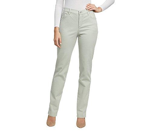 Gloria Vanderbilt Amanda Colored Straight Leg Denim Jeans Desert Sage 8 Short