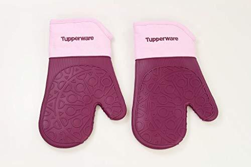 TUPPERWARE Backen Ofenhandschuh lila/rosa Ofen Topflappen Silikon (2)