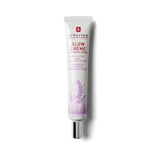 Erborian Glow Crème, Base de Teint Illuminatrice, Crème Lumière à Effet Ultra-Radieux, Soin du Visage Coréen, Doré, 45 ml