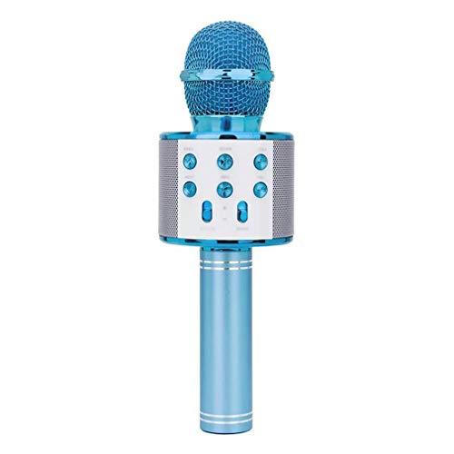 Micrófono Bluetooth inalámbrico portátil, micrófono multifunción, compatible con dispositivos Android, iOS y PC, adecuado para entretenimiento en el hogar, cfiestas, reuniones, actuaciones