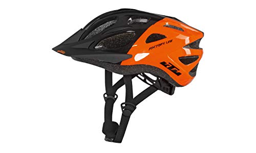 Casco de bicicleta KTM Factory Youth/Fidlock. Por favor, color a elegir., color negro y naranja, tamaño 51-56 cm