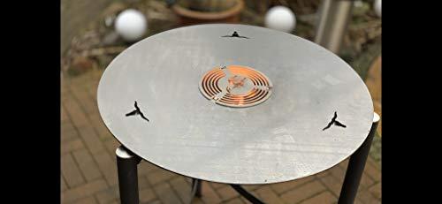 31dFCF2ZoPL. SL500  - Kette´s Grillzubehör Fireplate/Grillplatte/BBQ-Platte/für Kugelgrills oder Feuertonnen (Feuertonnen)