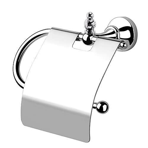 Portarrollos con tapa Lilium, accesorios de baño, fabricado en Italia