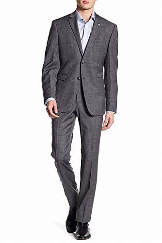 Original Penguin Men's Slim Fit Suit, Medium Grey Check, 46 Regular