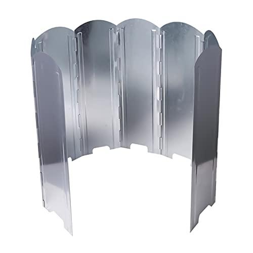 Cortavientos Hornillo de gas 8 piezas Láminas de aluminio ligero plegable Parabrisas cortavientos para camping, hornillo de exterior, barbacoa (40 cm)