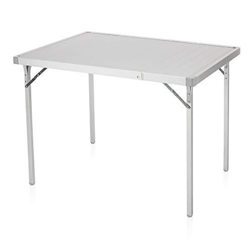 Campart Campingtisch/ Reisetisch - 94/127 x 70 cm wetterbeständige Rolltischfläche aus Aluminium/ erweiterbare Tischplatte, TA-0808