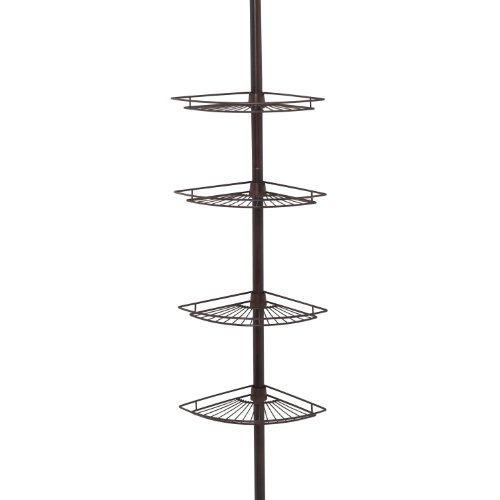 Zenna Home Shower Tension Pole Caddy, Oil Rubbed Bronze