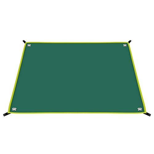 FTSPORTS Picknickdecke Wasserdicht Stranddecke Windseil Abdecken waschbar Camping Decke Sitzunterlage 4-6 für Angeln Picknick im Garten, Strand (180 * 220cm, Grün)