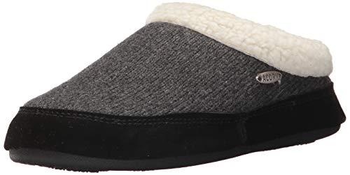 Acorn Unisex-Adult Mule Ragg slippers, Dark Charcoal Heather, Medium Standard US Width US
