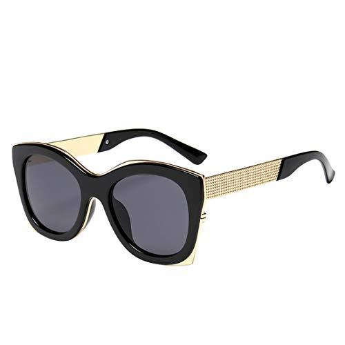 Minicocock Color de la Lente Exterior de conducción Viajar Forma Cuadrada de Gran tamaño Gafas de Sol de protección UV (Color : Grey)