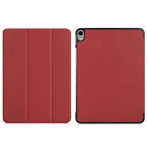 kuaijiexiaopu Custodie Il modello della stampa del basamento di piegatura for iPad Pro 11' (2018) Smart Cover Funda for il nuovo iPad Pro 11 pollici 2018, Shell + Film + Pen ( Colore : Wine red )
