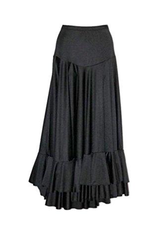 Falda negra con volantes para flamenco