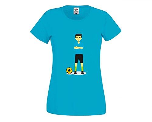 Druckerlebnis24 Camiseta de Deporte con diseño de balón de fútbol, Jugador de...