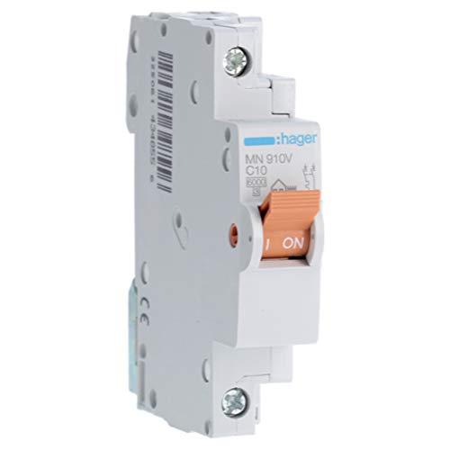 Hager MN910V Interruptor automático magnetotérmico, Blanco