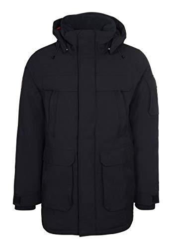 Elkline Herren Winterparka Real Stuff 1011054, Farbe:Black, Größe:XL