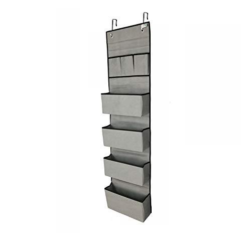 Zen caddy Tür-Organizer mit 7 Fächern für große Kapazität. Verstärkter Stoff mit starren Brettern für eine attraktive und langlebige Aufbewahrungslösung für jeden Raum.