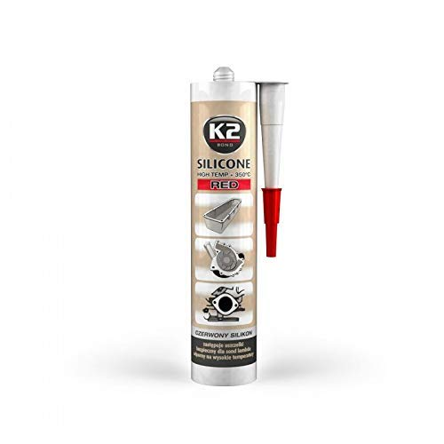 K2-Hochtemperatur Silikon, Dichtmasse, dichtsi Likon, hochtemperaturbeständig bis + 350°C, Rot, 300g