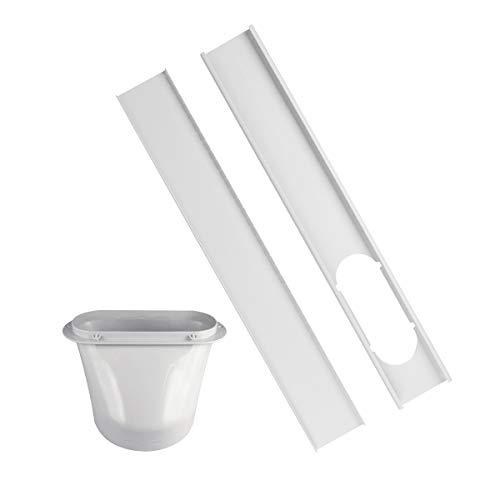 Forestchill Portable Air Conditioner Window Replacement Kit, Adjustable Window Slide Sealing Plate and 5.9'' Exhaust Hose Adapter, Max Length 51.2'', Compatible with 5.9in Exhaust Hoses