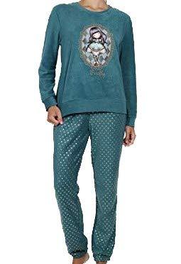 SANTORO LONDON - Pijama Mujer Santoro Gorjuss Micropolar Mujer Color: Botella Talla: Large