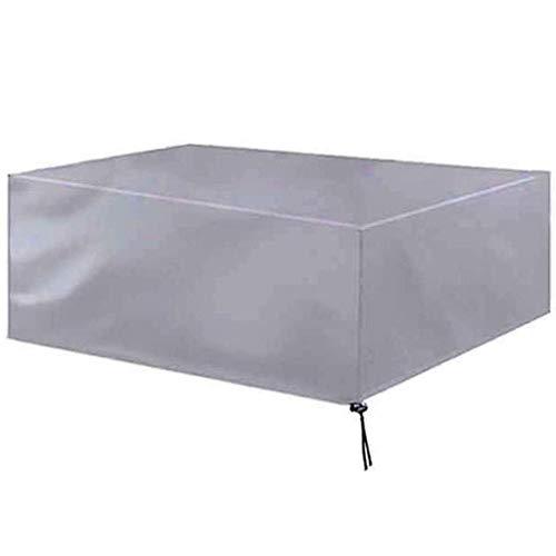 Accesorios para el hogar Fundas para muebles de jardín Impermeable 1,81,2x1,2 m Funda para muebles de patio Lona para exteriores Durable a prueba de viento Mesa antipicnico Sillón Plata Personaliza