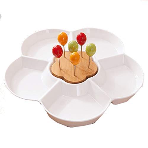 ZHENYANG Plato de Fruta de cerámica Creativa, Placa de Fruta Simple.