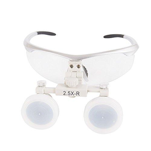 GoDen メガネ式拡大鏡 双眼ルーペ 虫眼鏡 2.5倍/3.0倍/3.5倍 (2.5X)