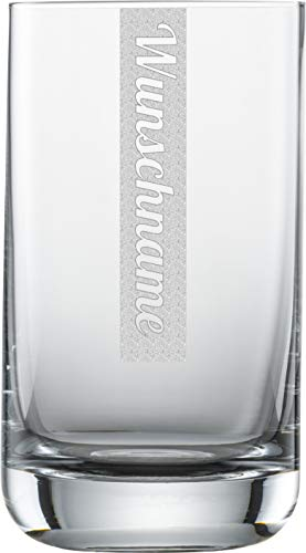 Miriquidi Wasserglas mit Gravur 1 Stück | 255ml Schott Zwiesel Convention Nr. 12 Glas | Spülmaschinenfest | Trinkglas & Individuelle Lasergravur