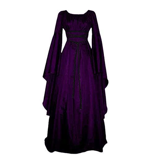 Vestido de Mujer Vestido Medieval Retro Vestido Victoriano Disfraz renacentista Cosplay Vestido Vintage Fiesta de Carnaval de Halloween