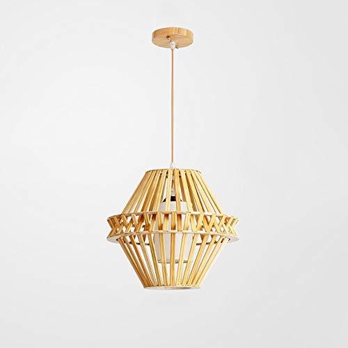 Lyuez Verstelbare energiebesparende kroonluchter Bamboe Green Light Modern restaurant woonkamer Japanse creatieve slaapkamer-kamer-lampen