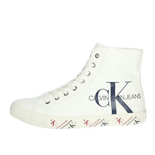 Calvin Klein Zapatillas de hombre Art B4S0669 Black Color Foto Medida a elegir Blanco Size: 39 EU