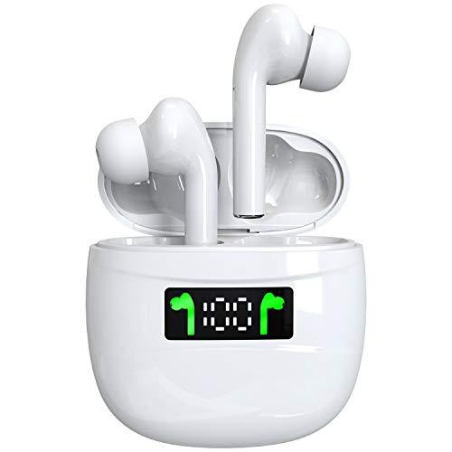 Auricolari Senza Fili Bluetooth 5.2, Accoppiamento Automatico Cuffie Wireless TWS Microfono Auricolari Correre Sportivi con LCD Custodia Ricarica