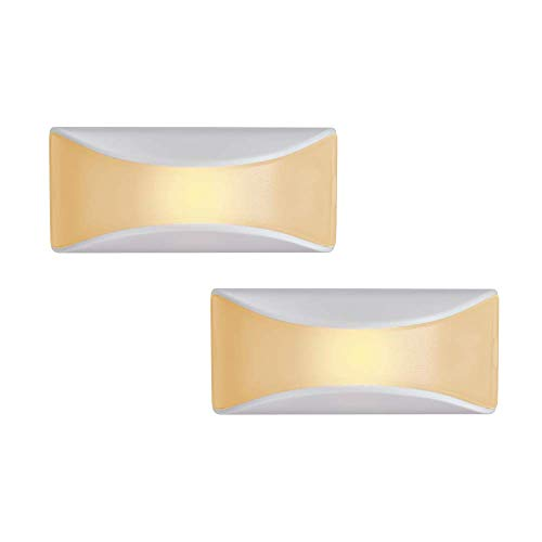 Mr. Beams MB500A-WHT-02-00 LED Dusk to Dawn Stair Night Light, One Size, White, 2 Each
