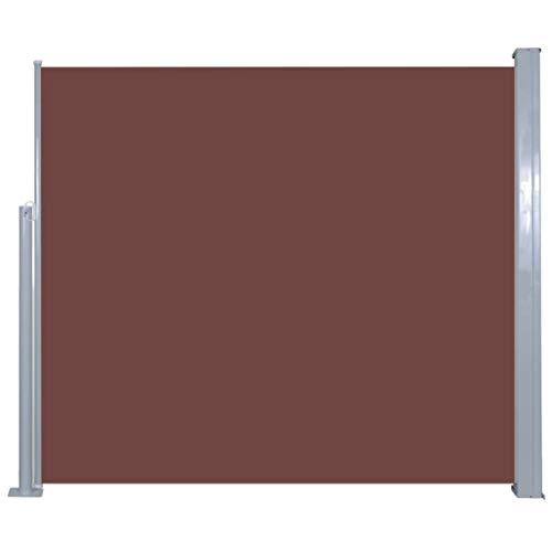 Galapara Ausziehbare Seitenmarkise für Balkon Terrasse Garten | Farbauswahl 120x300cm | Balkonbespannung Windschutz, Sichtschutz, Seitenwandmarkise, Seitenrollo, Sonnenschutz | Braun