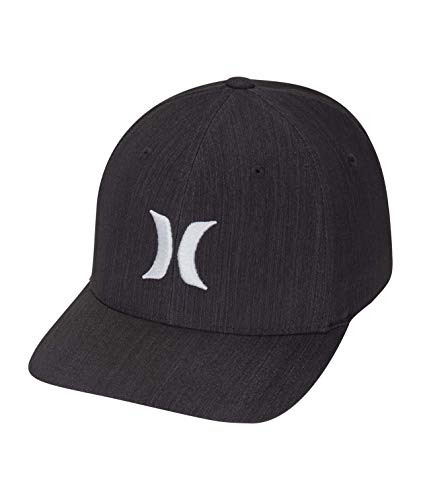Hurley M Dri-Fit Cutback Hat Gorras, Hombre, Black or Cool Grey, S/M