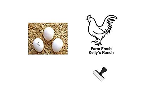 Personalized Rubber Egg Stamp - 1/2' Impression Size (Hen)