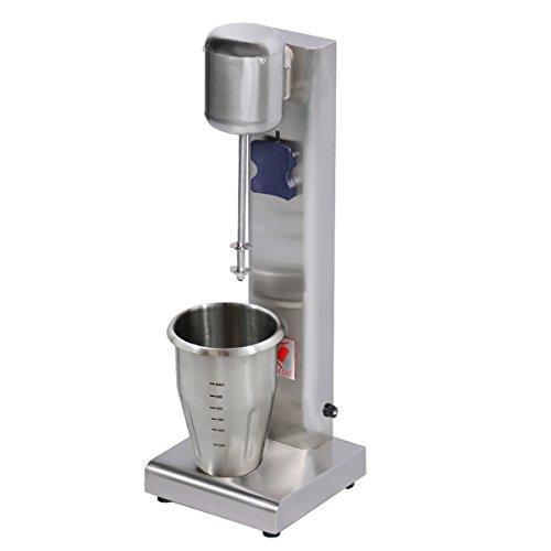 Beeketal \'BMS-1\' Profi Milchshaker Mixer mit 1 x 750 ml XL Becher, 2 Stufen (10.000 oder 15.000 U/Min), Gastro Standmixer ideal für cremige Milkshakes, Eiweißshakes, Cocktails, Frappes oder Smoothies