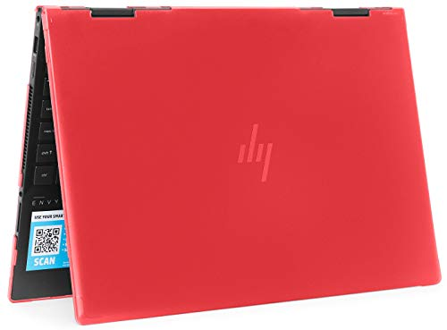 "mCover Hard Shell Case for 2019 15.6"" HP Envy X360 15-DSxxxx / 15-DRxxxx Series (NOT Compatible with X360 15-AQxxx / 15-BPxxx and Other Series) (Red)"