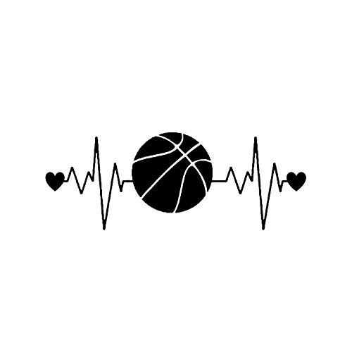 BLOUR DAWASARU Interessanter Herzschlag Lifeline Basketball Auto Aufkleber Dekor Vinyl Hochwertige Persönlichkeit Kreative Auto Aufkleber 6 * 16CM